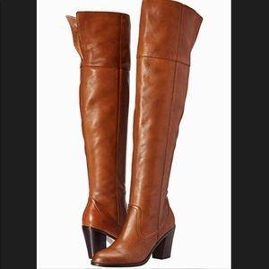 Corso Como Harrison Cuff Tobacco Leather Boots